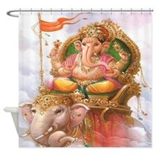 Ganesh on Elephant Shower Curtain