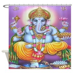 Ganesh Shower Curtain