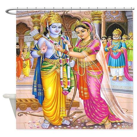 Wedding of Rama & Sita Shower Curtain