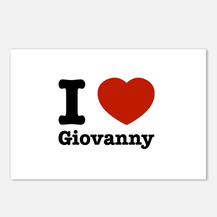 I love Giovanny Postcards (Package of 8)