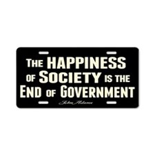 Adams Quote - End of Government Aluminum License P