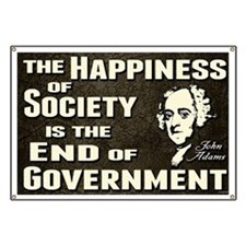 Adams Quote - End of Government Banner