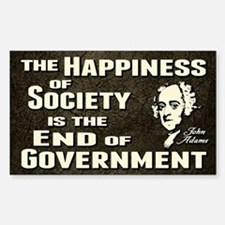 Adams Quote - End of Government Decal