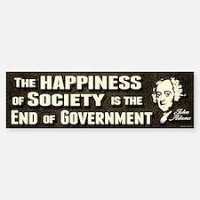 Adams Quote - End of Government Bumper Bumper Sticker