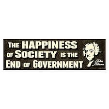 Adams Quote - End of Government Bumper Sticker