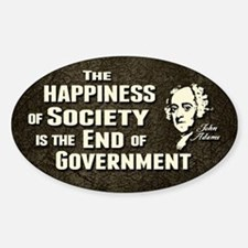 Adams Quote - End of Government Sticker (Oval)