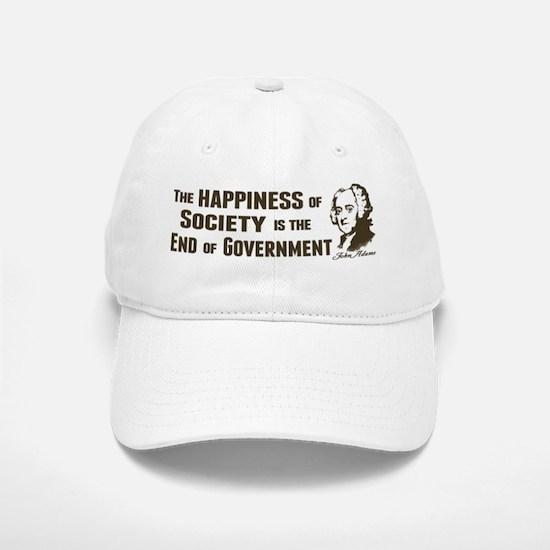Adams Quote - End of Government Baseball Baseball Cap