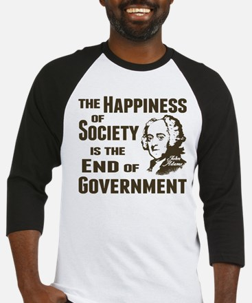Adams Quote - End of Government Baseball Jersey