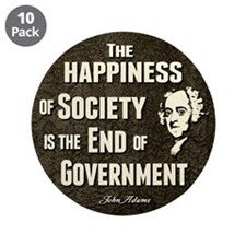"""Adams Quote - End of Government 3.5"""" Button (10 pa"""