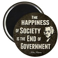 """Adams Quote - End of Government 2.25"""" Magnet (100"""