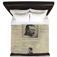 Theodore Roosevelt Shot! King Duvet