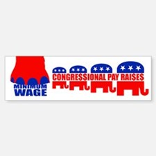 CONGRESSIONAL PAY RAISES Bumper Bumper Bumper Sticker