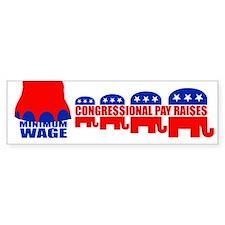 CONGRESSIONAL PAY RAISES Bumper Bumper Sticker