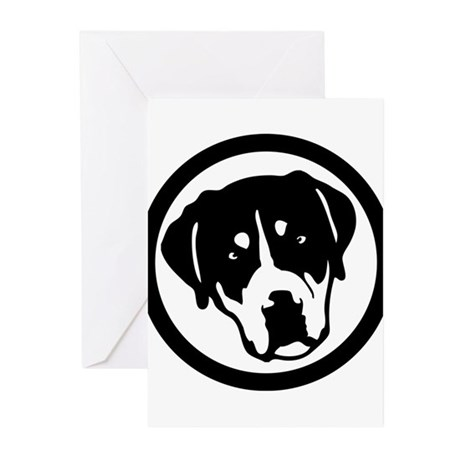 Greater Swiss Mountain Dog Greeting Cards (Pk of 1