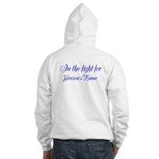 Personalizable Blue Cancer Hoodie