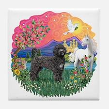 FantasyLand-PWD(Blk) Tile Coaster