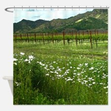 Silverado Trail Wine Country Shower Curtain