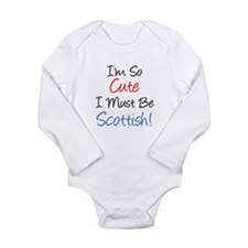 So Cute Must Be Scottish Onesie Romper Suit