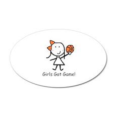 Girls Got Game 22x14 Oval Wall Peel