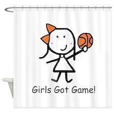 Girls Got Game Shower Curtain