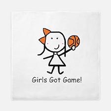 Girls Got Game Queen Duvet