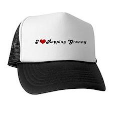 I Love Rapping Granny Trucker Hat