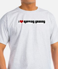 I Love Rapping Granny II Ash Grey T-Shirt