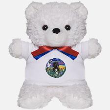 Garden-Sunset-PWD5bw Teddy Bear