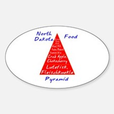 North Dakota Food Pyramid Sticker (Oval)