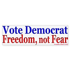 Democrats for Freedom Bumper Bumper Sticker