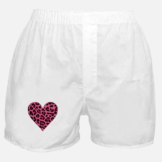 HOT PINK LEOPARD Boxer Shorts