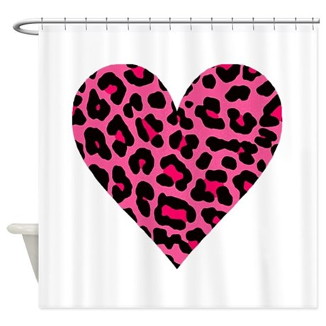 Hot Pink Leopard Shower Curtain By Theartofvenus