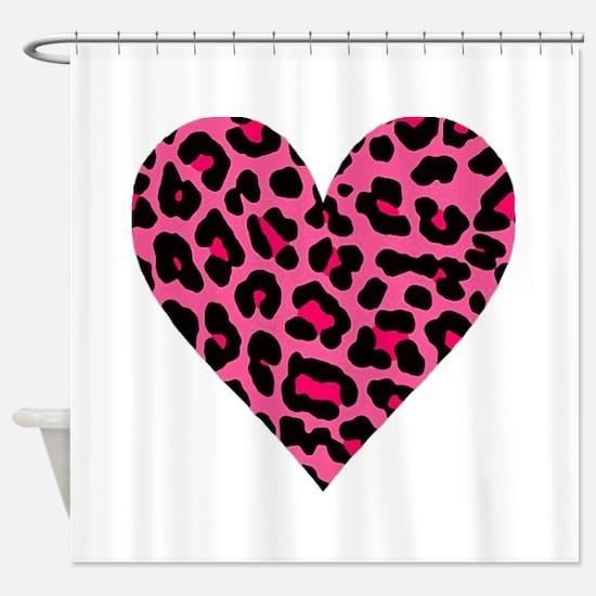 HOT PINK LEOPARD Shower Curtain