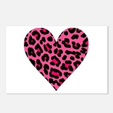 HOT PINK LEOPARD Postcards (Package of 8)