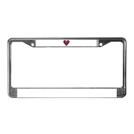 HOT PINK LEOPARD License Plate Frame