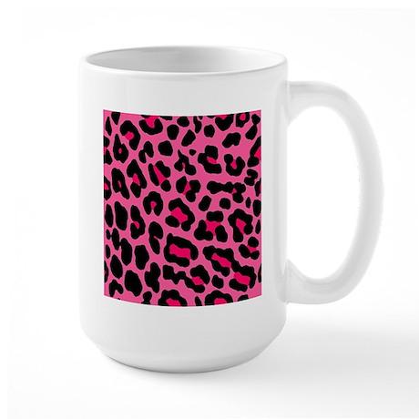 HOT PINK LEOPARD Large Mug