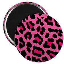 HOT PINK LEOPARD Magnet