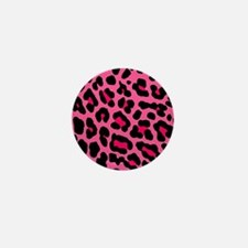 HOT PINK LEOPARD Mini Button