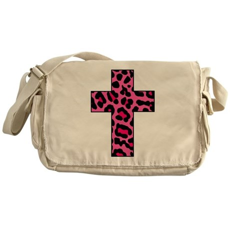 HOT PINK LEOPARD Messenger Bag