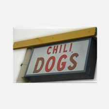 Cute Chili dog Rectangle Magnet