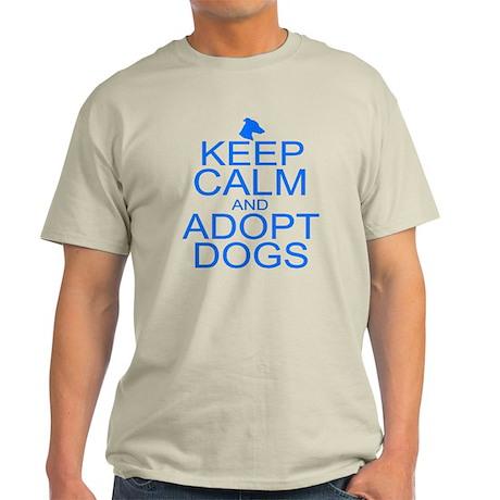Keep Calm and Adopt Dogs Light T-Shirt