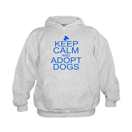 Keep Calm and Adopt Dogs Kids Hoodie
