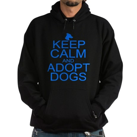 Keep Calm and Adopt Dogs Hoodie (dark)