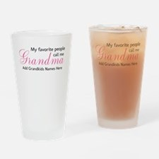 Grandma Personalized Drinking Glass