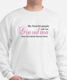 Grandma Personalized Sweatshirt