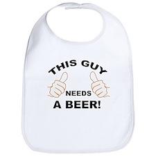 Unique This guy needs a beer Bib