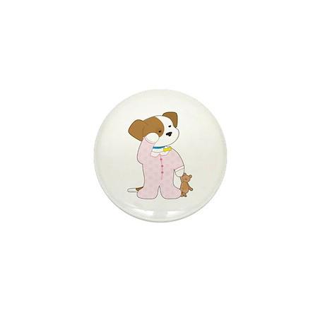 Cute Puppy Pajamas Mini Button (10 pack)