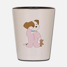 Cute Puppy Pajamas Shot Glass