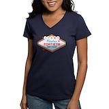 Birthday vegas Womens V-Neck T-shirts (Dark)