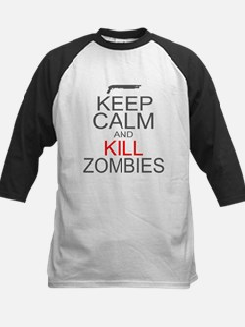 Keep Calm and Kill Zombies Kids Baseball Jersey